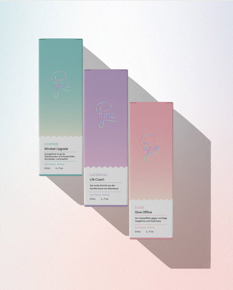 Pyne Essential oil packaging design