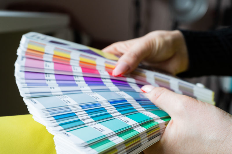 Colours in a Pantone book