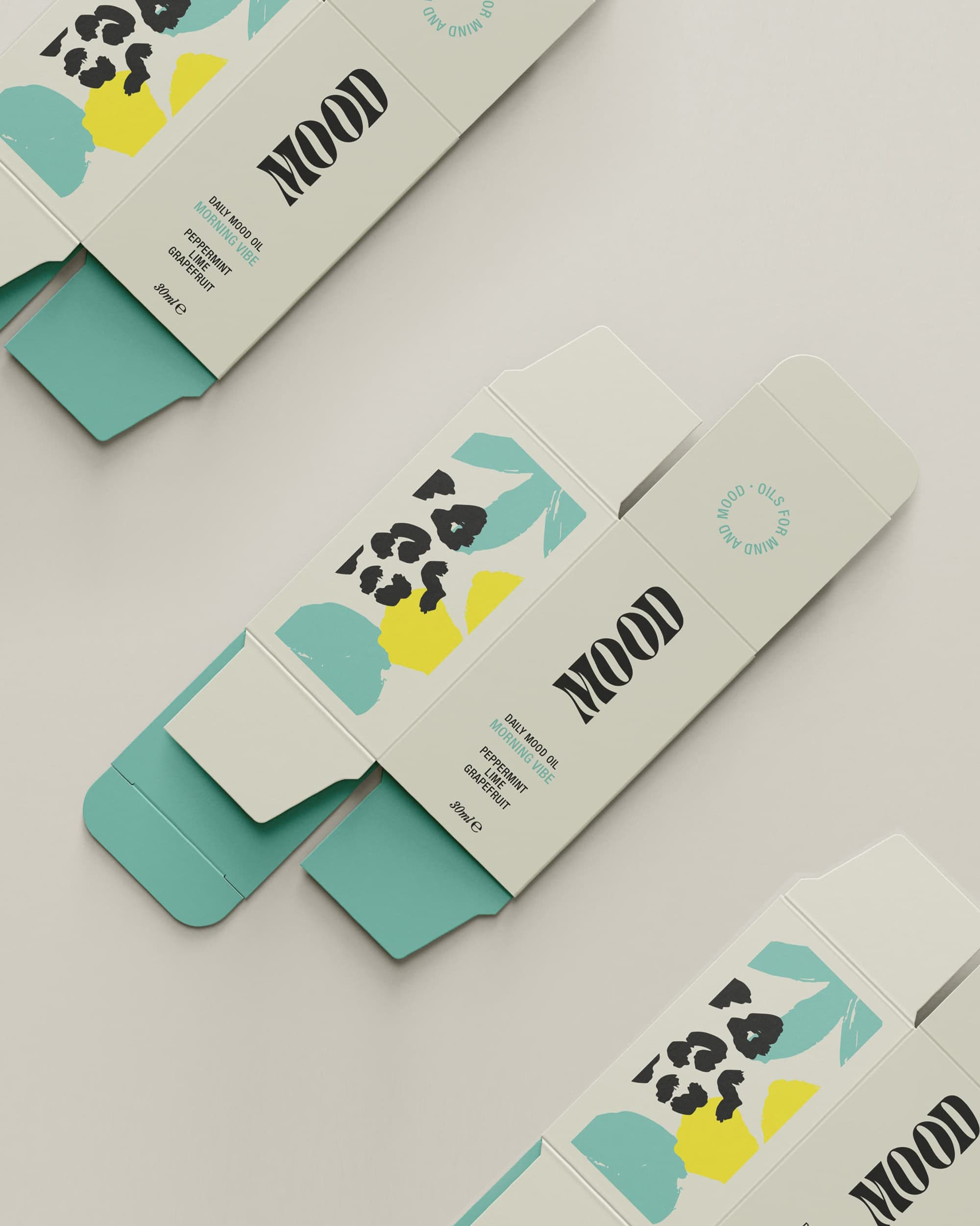 Mood oils packaging Design