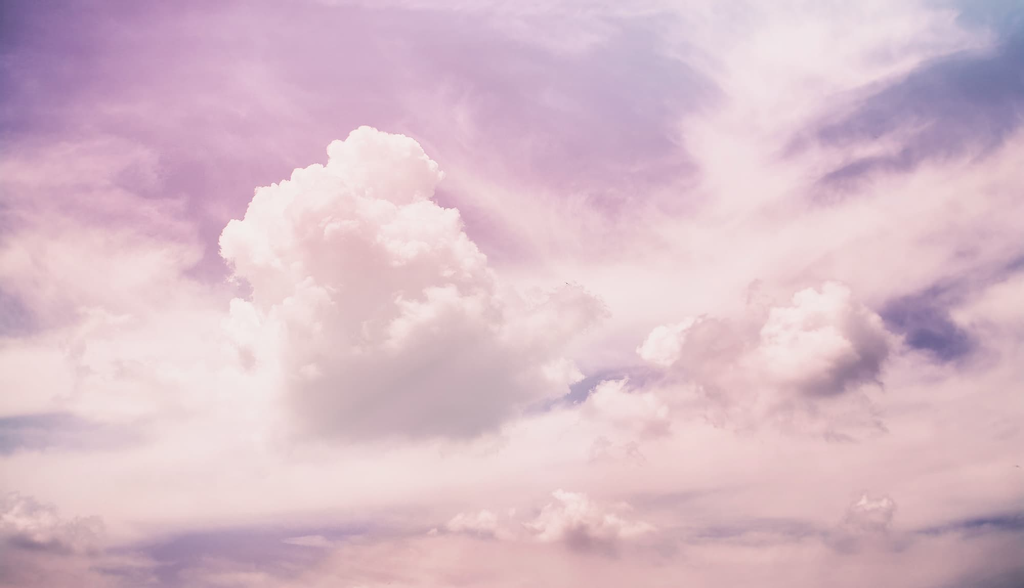 Lilac coloured cloud background